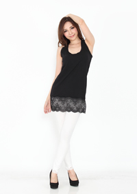 LACY LONG TANK +CUP